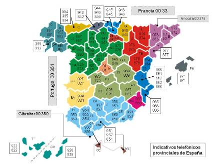 Prefijos telefónico de España